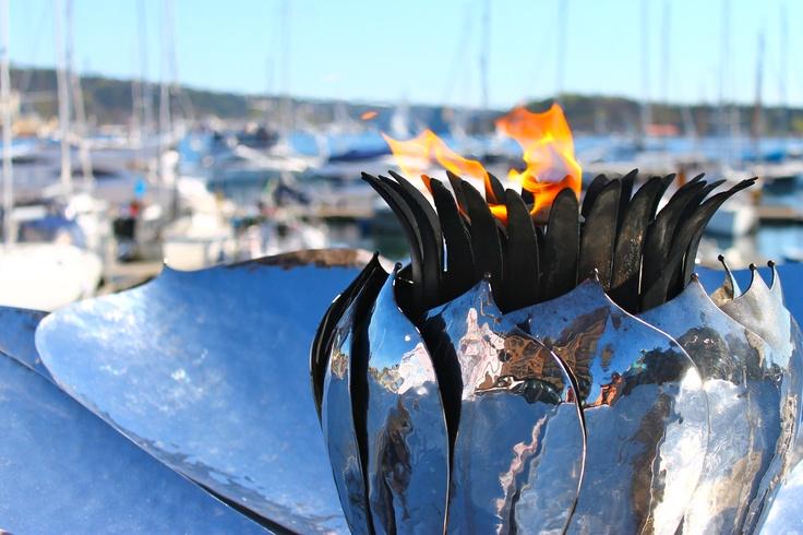 Flame in Oslo´s harbor