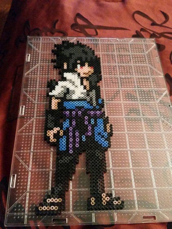 Uchiha Sasuke perler bead from naruto. by SaiyanPerlers on Etsy