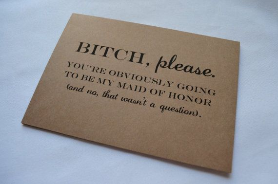 Will you be my MAID OF HONOR Card by invitesbythisandthat on Etsy