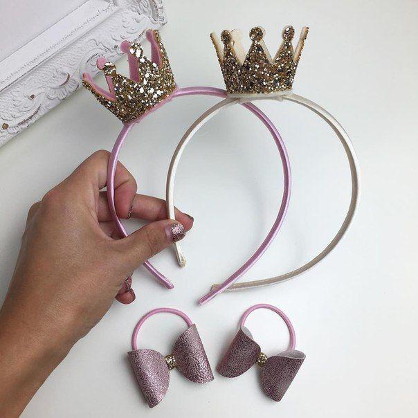 Neue 2019 Mädchen Haarbänder Perlen Harz Spitze Bogen Band Kronprinzessin Kinder Zubehör Haarschmuck Haarband