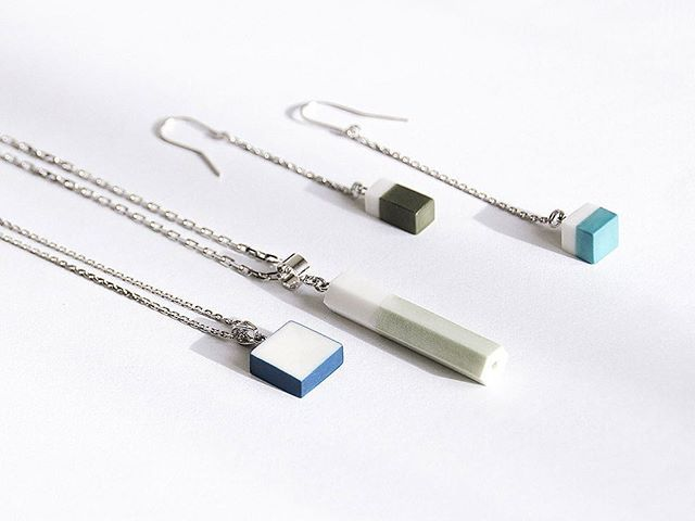 OLGA KABIE Pendants and earrings |Handcrafted Porcelain + Sterling Silver Rhodium Plated| #olgakabie