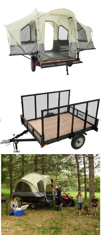 Lifetime Sahara Deluxe Utility Tent Trailer w/Ramp and Spare Tire I want one !
