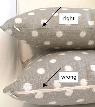 Make a pillow cover with an invisible zipper (no pins needed...   Stop staring and start sewing!   Bloglovin'