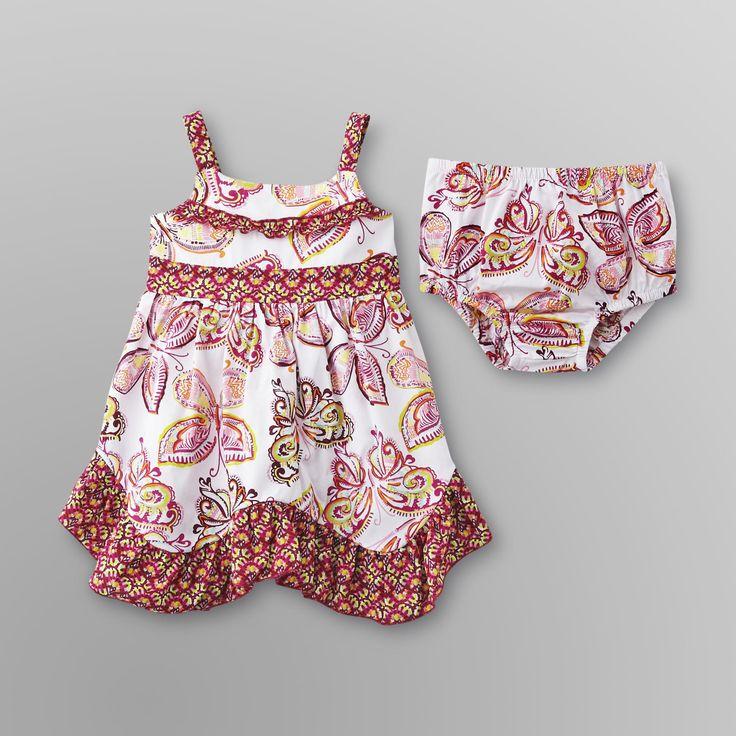 Infant Girl's Sundress & Diaper Cover -