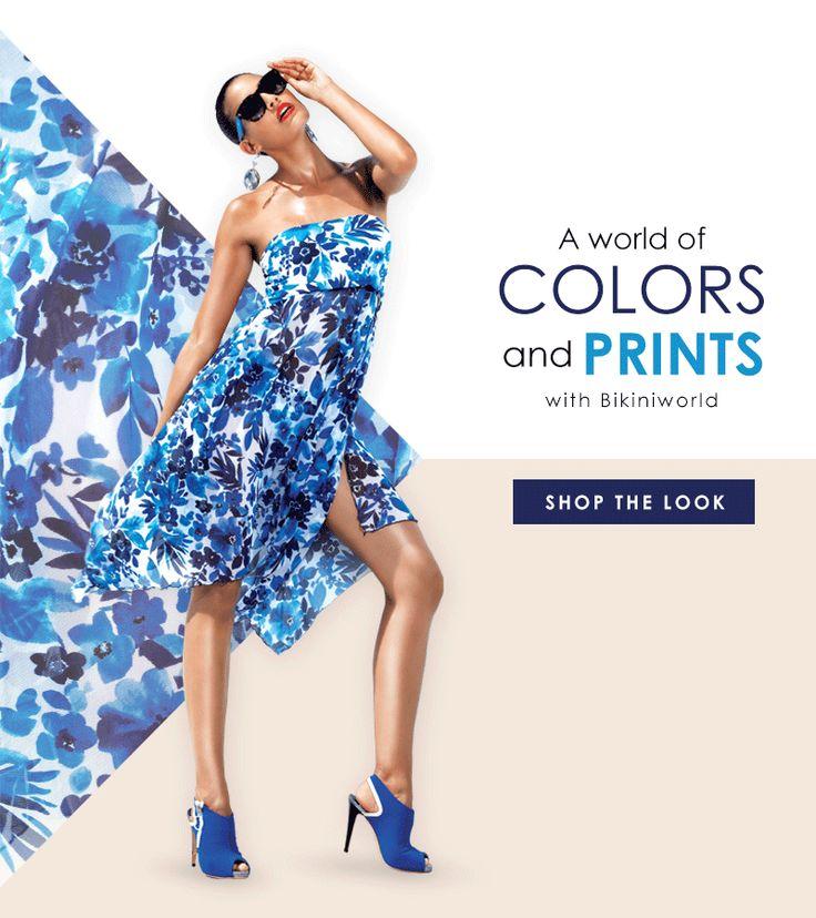 A world of #colors and #prints with #Bikiniworld #swimwear #beachwear #shoponline