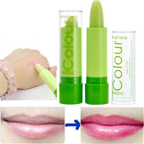 Magic Green Color Changing Lip Makeup Long Lasting Lipstick Cosmetic at Banggood