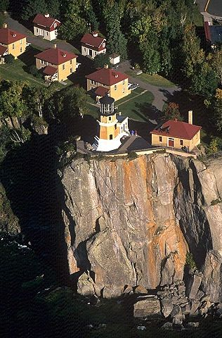 Aerial photo of Split Rock Lighthouse, Near Two Harbors, Lake Superior, Minnesota, MN (2004)
