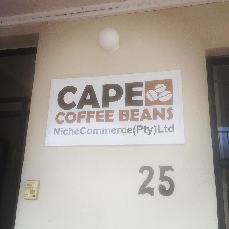Sign's up! Must be official! #capecoffeebeans #capetown #coffee #twitter #pinterest