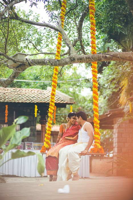 The simplicity and candour most South-Indian weddings come with is amazing. That's why this small but pretty Tamil-Telugu wedding has got all those brownie points. Right from the spectacular Stepwell venue, Tamarind Tree to the sweet marigold decor - this...