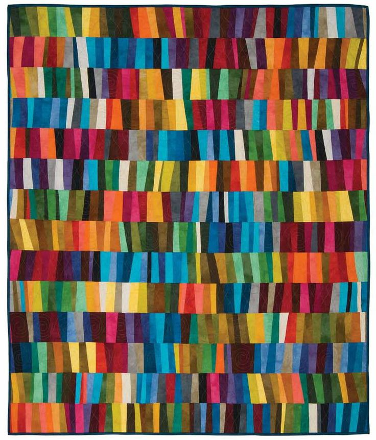 "~ free pattern ~ ""Sticks"" by Marcia Derse, 60 x 70"", for Windham Fabrics.  Palette is a collection of tonal solids in 40 colors with subtle gradations of color,"