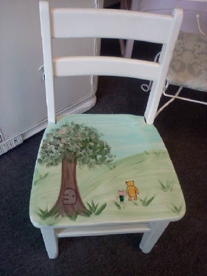Vintage Handpainted Childs Chair with storybook characters. $49.00 free personalization