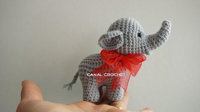 Mini Elefante Amigurumi - Patrón Gratis en Español y con Videotutorial