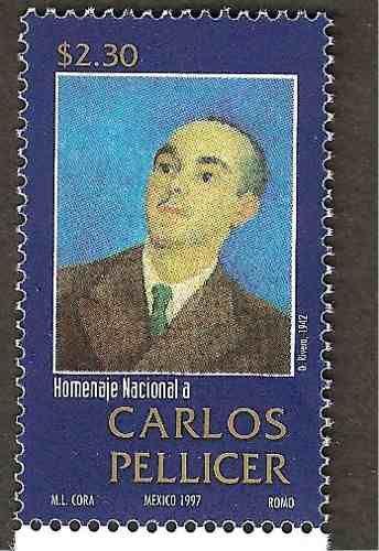 carlos pellicer | Poeta Carlos Pellicer 1997 Estampilla Nueva - $ 35.00 en…