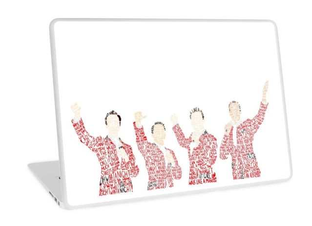 This <i>Jersey Boys</i> laptop case so everyone knows for sure that you're a theater nerd.