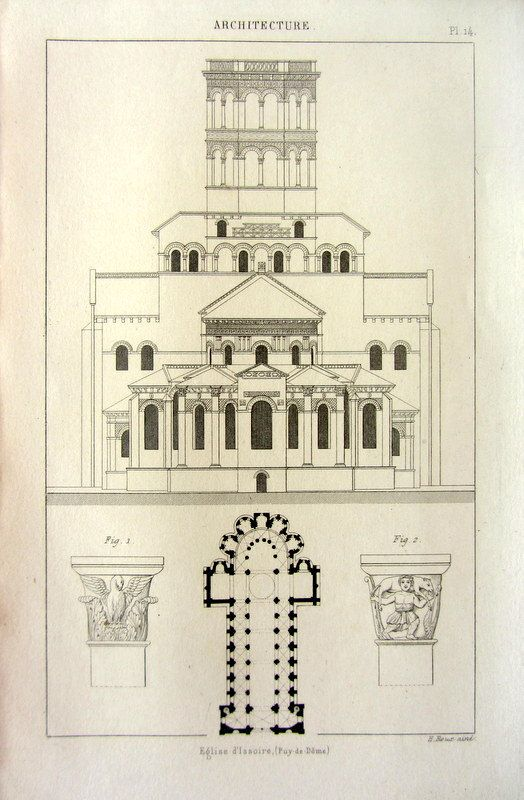 1852 antique architecture print of the Abbey by LyraNebulaPrints