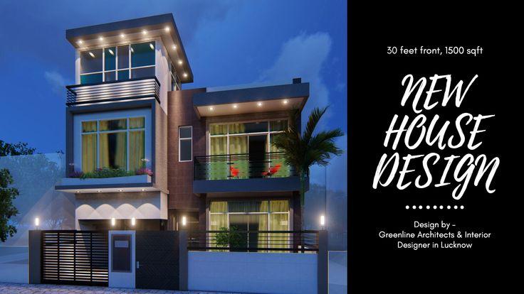 30 Feet Front House Design 3d Video Walk Through Facade Design House Design House Exterior Small house design video