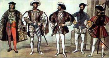 Французское возрождение костюм ткани