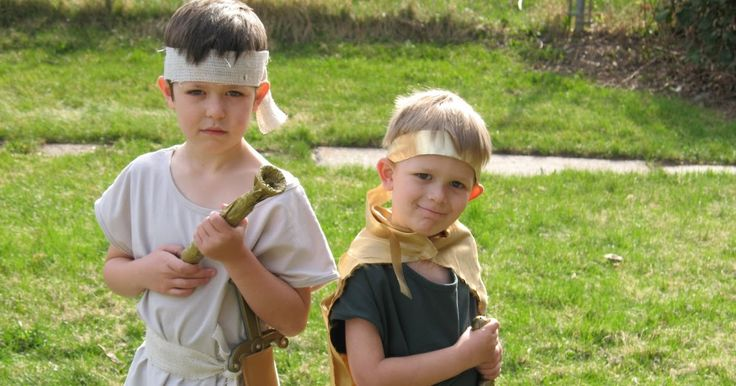 The boys had a primary party today.  They dressed as heroes from the Book of Mormon. Nick is Captain Moroni and Ben is King Benjamin.