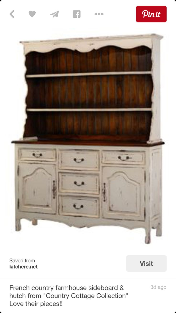 This But Without The Hutch Part Is Nice French Country Farmhouse Sideboard From Cottage Collection Love Their Pieces