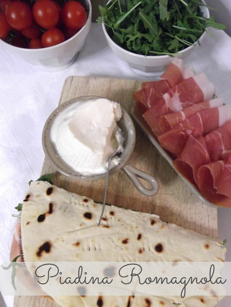 Piadina: italian flat bread cool, I actually read and understood the Italian easily :)