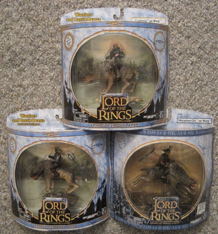 AOME LOTR LORD OF THE RINGS GOTHMOG 2 MORANNON ORC FIGURES PLASTIC TOY SOLDIER #PLAYALONGTOYS