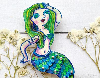 "Check out new work on my @Behance portfolio: ""Brooch mermaid Marlen"" http://be.net/gallery/37588361/Brooch-mermaid-Marlen"