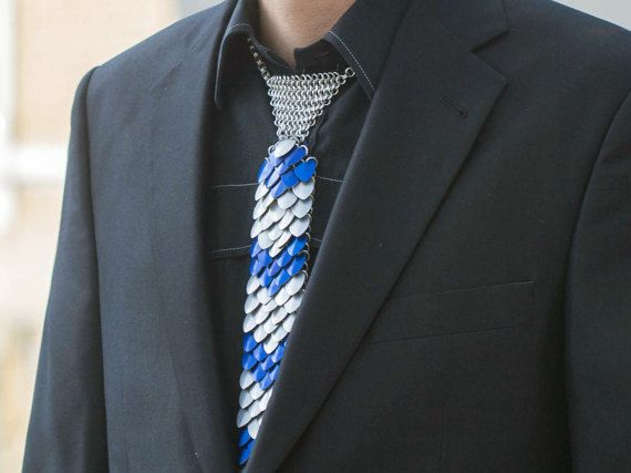 Blue Dragon tie by DreamHandmadee on Etsy