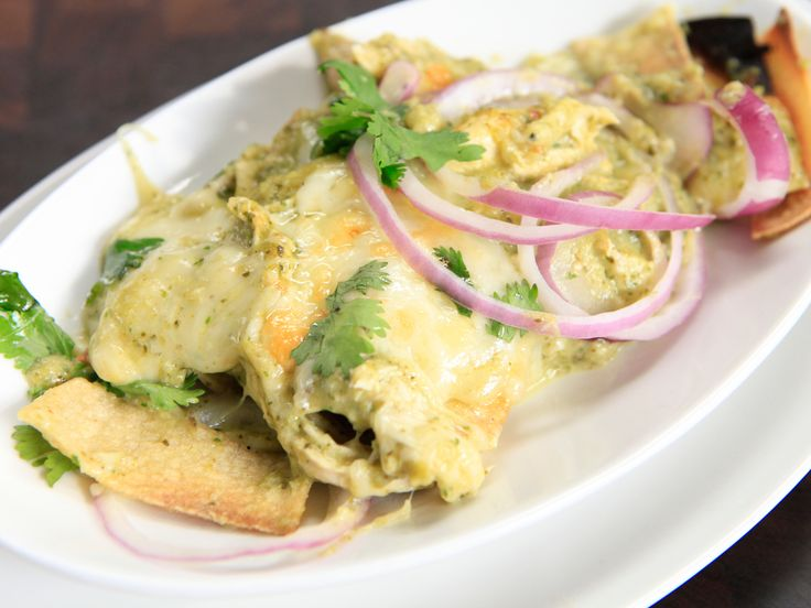 Chicken Suiza Chilaquiles Recipe : Rachael Ray includes recipe for whole poached chicken.
