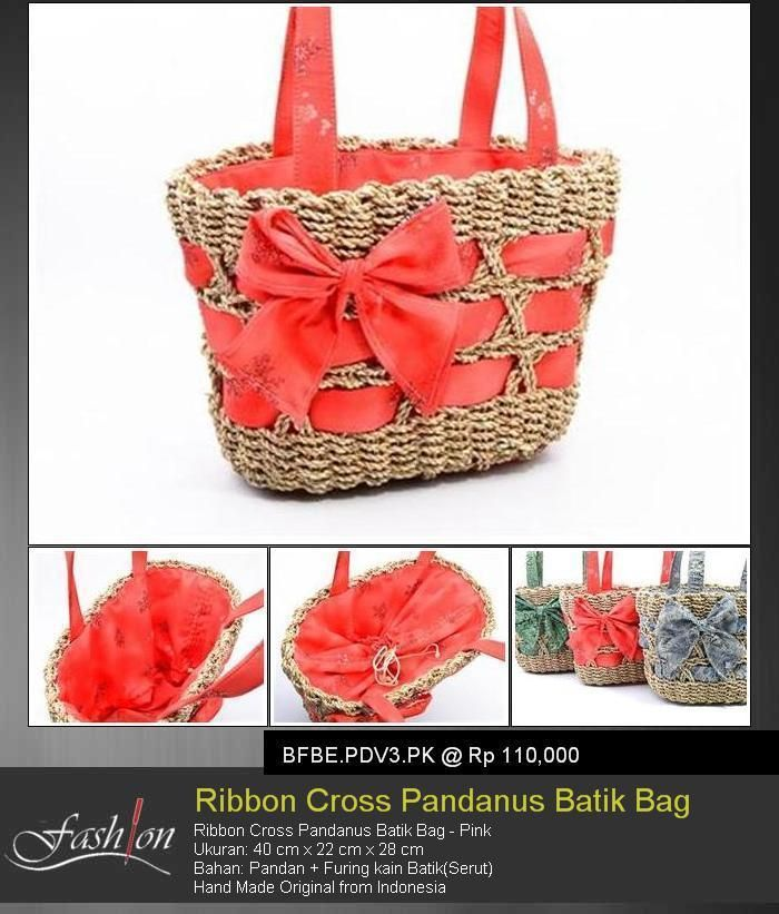 Ribbon Cross Pandan Batik Bag