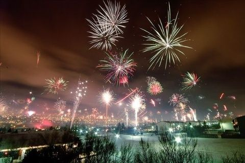 stunning fireworks   Reykjavik's Stunning Fireworks Display