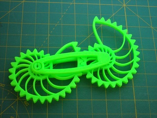 Nautilus Gears With Modified Bar, from Makerbot's education-focused Daily Prints: Modified Bar, Prints Ideas, Education Focus Daily, Inner Geek, Connection Bar, Daily Prints, 3D Prints, Daily Ideas, Nautilus Gears Things 27233
