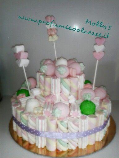 Marshmallows cake