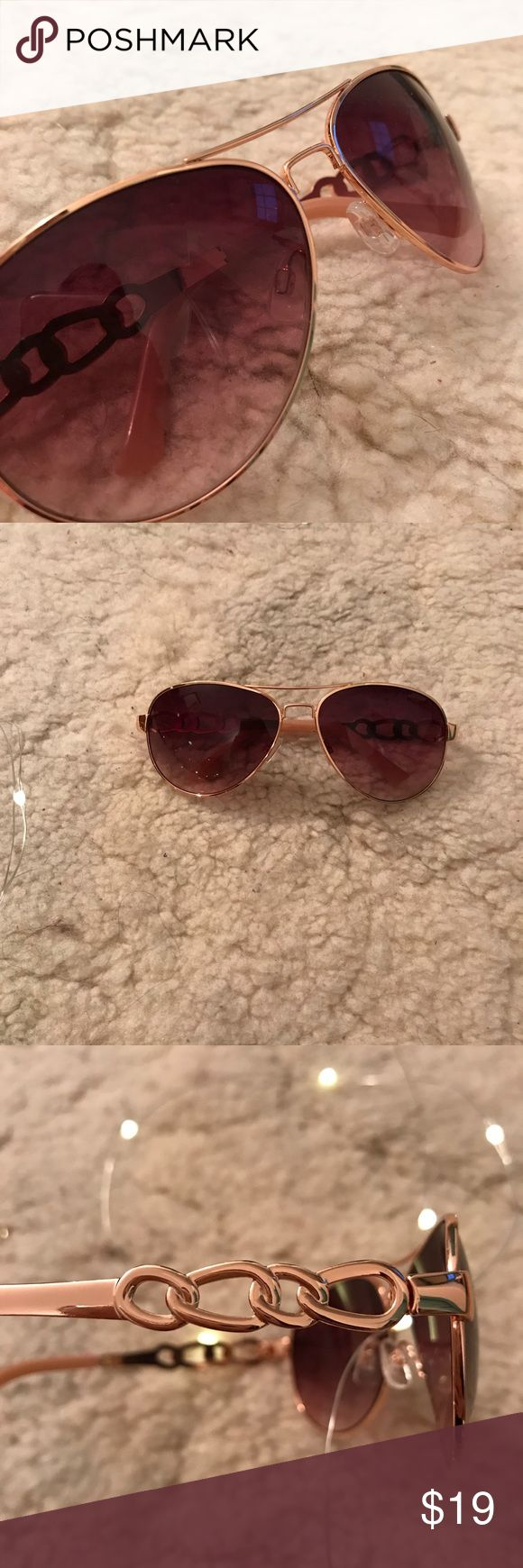 JESSICA SIMPSON sunglasses ROSE GOLD chain NWOT New without tags Jessica Simpson Collection rose gold chain aviator sunglasses. No scratches. Make offers and ask questions!! xx Jessica Simpson Accessories Sunglasses