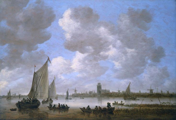 Jan van Goyen - Gezicht op Dordrecht (1651)