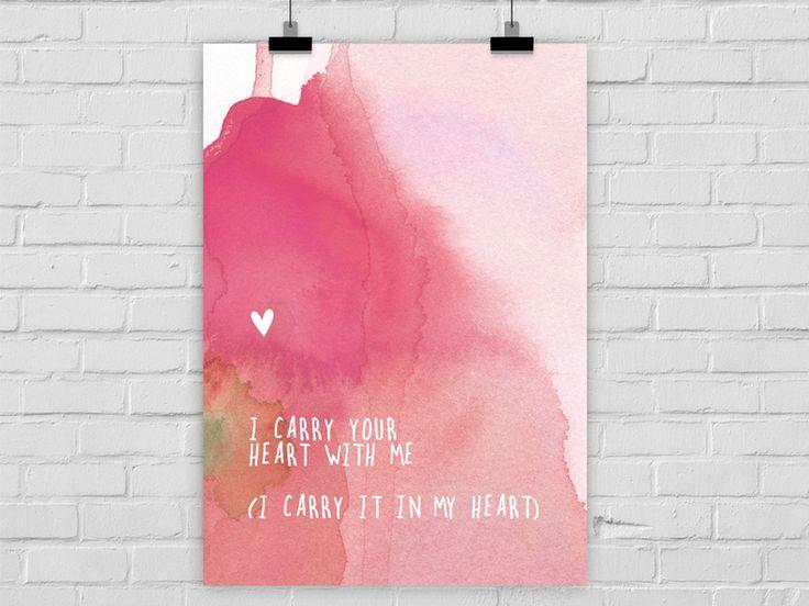 Kunstdruck I CARRY YOUR HEART von Prints Eisenherz auf DaWanda.com