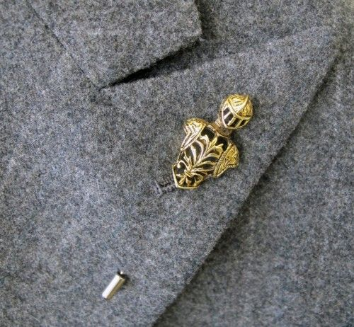 New vintage - The knight in shining armor lapel bar. Idea for jewelry-making.