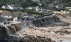 Emergency services tell people to avoid Coverack area and not to drive through flood waters after violent storms on Tuesday afternoon