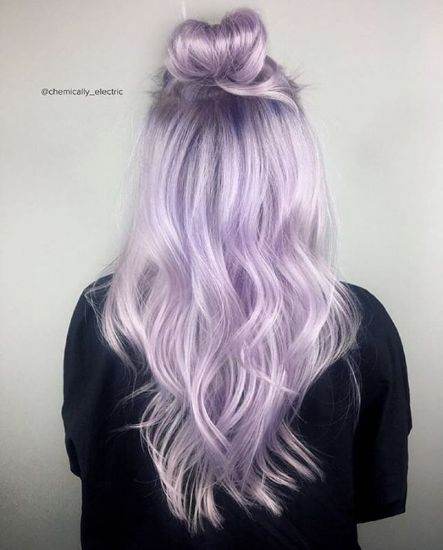Reverse Gray To Pastel Purple Ombre Short Purple Hair Short Ombre Hair Pastel Purple Hair
