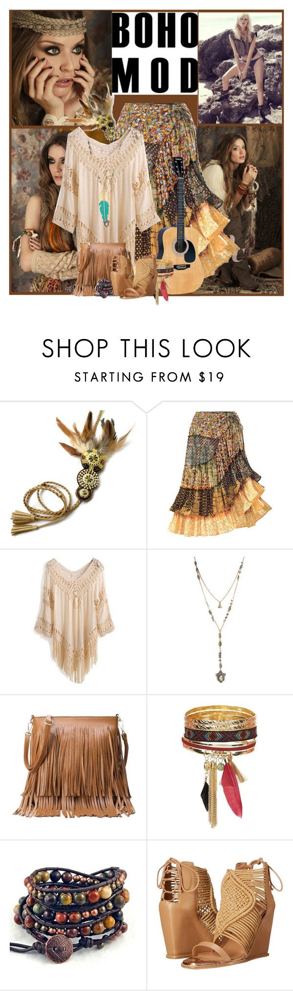 """""""Bo Ho Chic"""" by flowerchild805 ❤ liked on Polyvore featuring Behance, Ivy Kirzhner and Accessorize"""