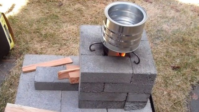 17 best images about shtf home made gardening and self for Brick jet stove