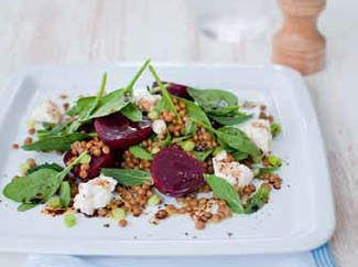 Lentil, beetroot & fetta salad - A friend made this for a BBQ last night and it was COMPLETELY DELICIOUS! If you like lentils you will LOVE this!