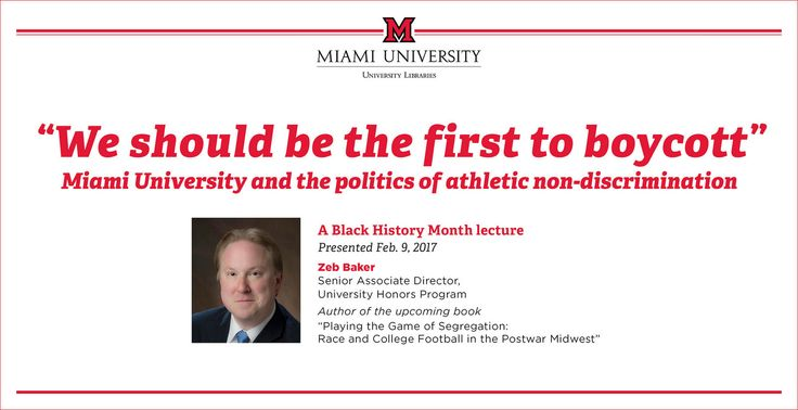 Miami University Football History: Boycotting and Athletic Non-Discrimination