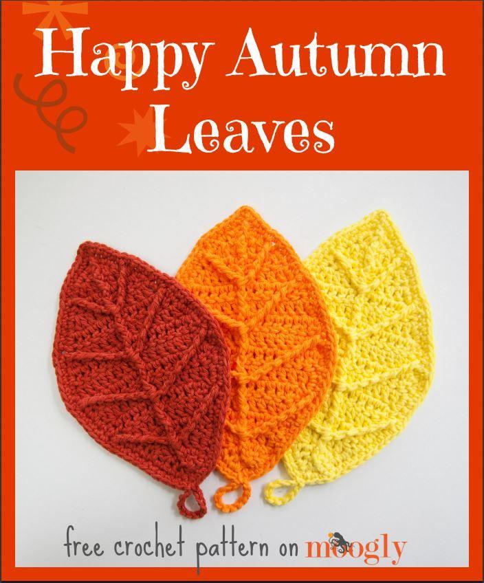 Happy Autumn Leaves - Häkelanleitung Herbst Laub Blätter