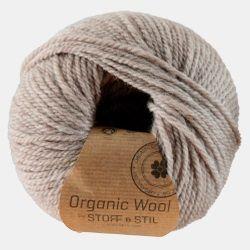 Garn organic wool lys grå/brun