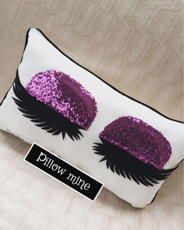 Eyelashes Pillow  Eyelash extension salon decor pillow