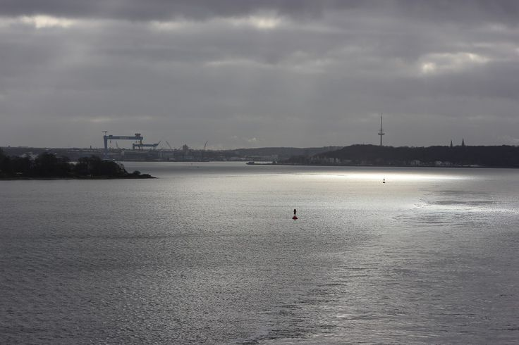 Kieler Förde - an Bord der Color Line von Kiel nach Oslo