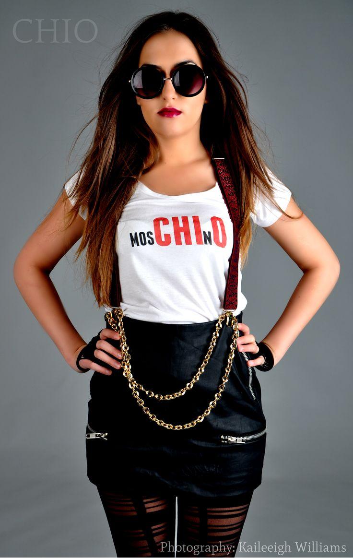 Chio Ohajuru Glam Fashion Grunge  Style Photo-shoot Moschino