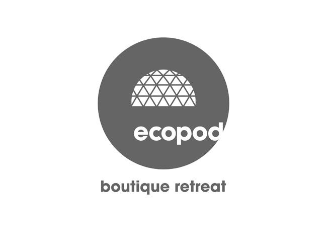 Ecopod logo. Contributed by Christian Eager, partner and designer at London-based Designers Anonymous. Ecopod is a luxury eco-friendly holiday retreat in the Scottish Highlands. The brand identity focused on the high quality of the experience, avoiding the clichés that go hand-in-hand with all things 'eco'.