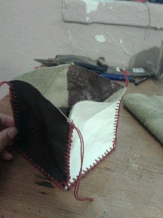 .leather criss-cross wallet. Jenny Southwell. #3.