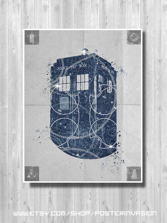 Affiche de TARDIS, Doctor Who poster - affiche minimaliste - Accueil décor poster - affiche de série TV - haute qualité d